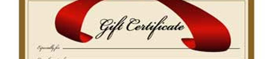 Gift Certificates Shop Category