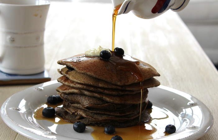 Blueberry Buckwheat Pancakes Recipe Brewers Organics Brewers Organics