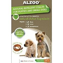 Alzoo Natural Repellent Flea and Tick Collar for Dogs- Small-Sized Breed/Puppies Main Image