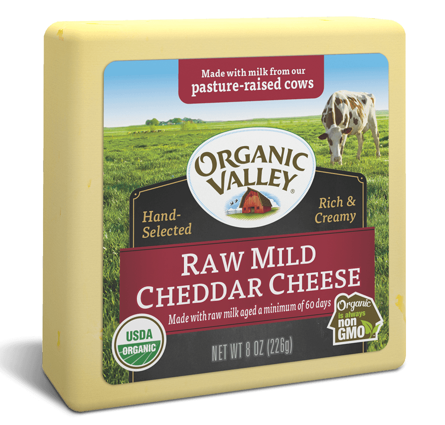 raw mild cheddar cheese 8oz  doorganics